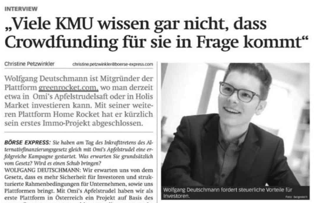 Börse Express Wolfgang Deutschmann Presse-Artikel