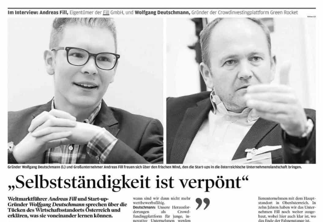 Wirtschaftsblatt Wolfgang Deutschmann Presse-Artikel
