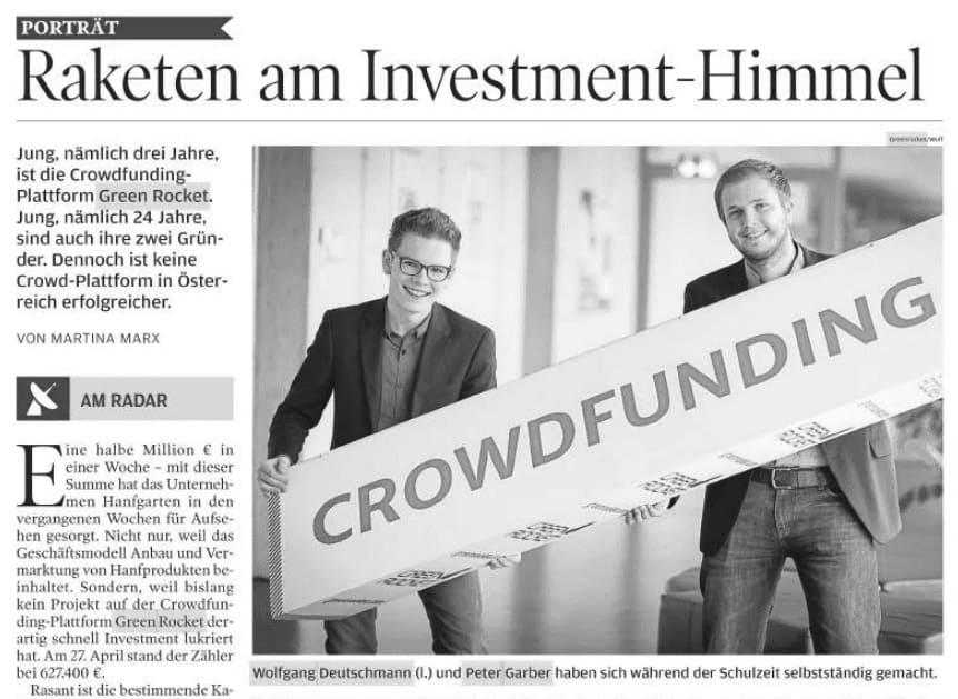 Wirtschaftsblatt Raketen Wolfgang Deutschmann Presse-Artikel