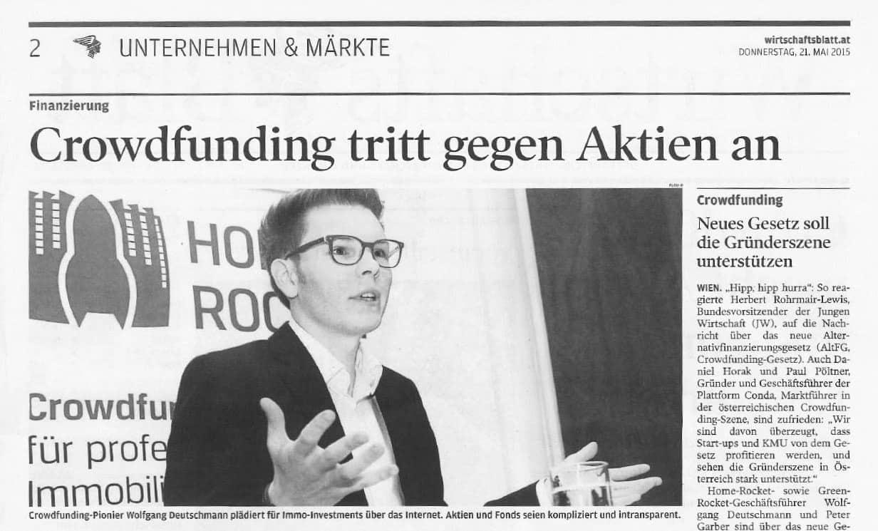 Crowdfunding Wolfgang Deutschmann Presse-Artikel